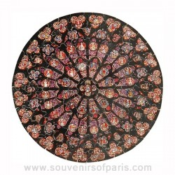 Notre Dame Cathedral Rose Window Wooden Jigsaw Puzzle