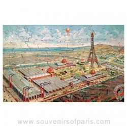 Paris Universal Exhibition Wooden Jigsaw Puzzle