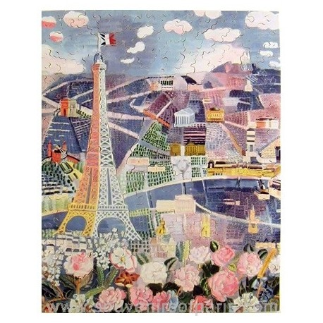 Paris In Spring Wooden Jigsaw Puzzle Dufy