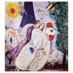 Eiffel Tower married Jigsaw Puzzle – Chagall