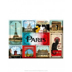 Box of mini-magnets old Paris