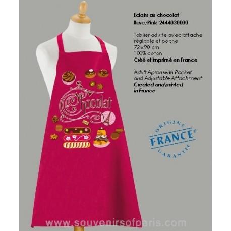 Eclairs au Chocolat pink Apron