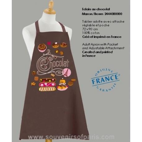 Eclairs au Chocolat brown Apron