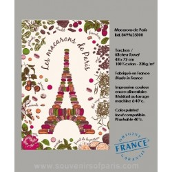 Eiffel Tower in Macarons dish Towel
