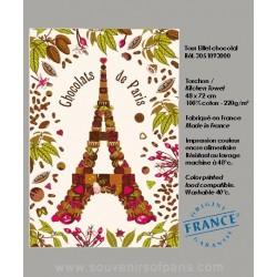 Eiffel Tower chocolat dish Towel
