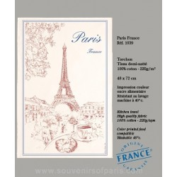 Paris and Eiffel Tower Dish Towel