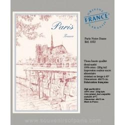 Notre Dame de Paris Dish Towel