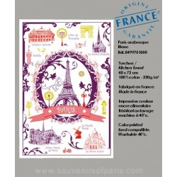 Paris Arabesque dish Towel