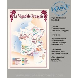 French vineyard map dish Towel