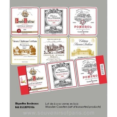Bordeaux vineyard Coasters