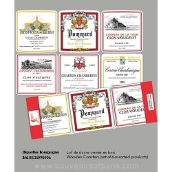 Bourgogne vineyard Coasters