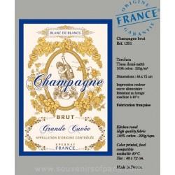 Champagne Brut Dish Towel