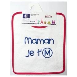 Metro bib I love u Maman