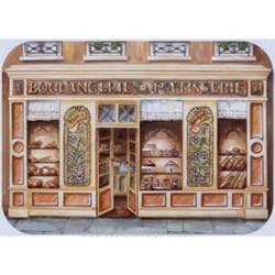 """""""Boulangerie"""" (Bakery) Plastic Placemat"""