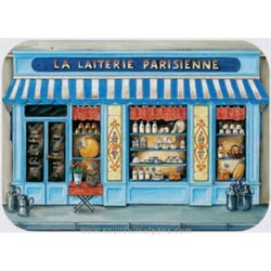 """La Laiterie"" (Milk shop) Plastic Placemat"