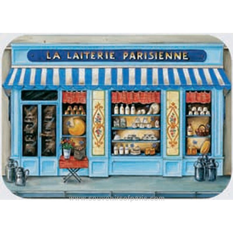 Quot La Laiterie Quot Milk Shop Plastic Placemat
