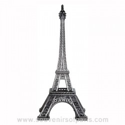 "Old Silver Eiffel Tower - Size 5 - 6.3"" (16 cm)"