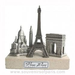 Sacre Coeur, Eiffel Tower, Arch of Triumph Triptych