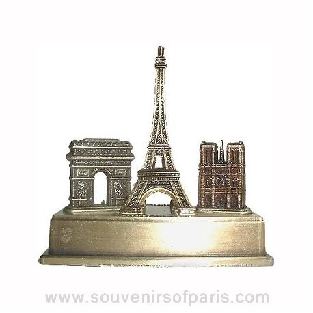 Small Bronze Metal Triptych