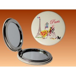 Mirror Eiffel Tower Flowers - Round