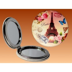 Mirror Eiffel Tower Rose - Round