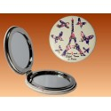 Mirror Eiffel Tower Butterfly - Round