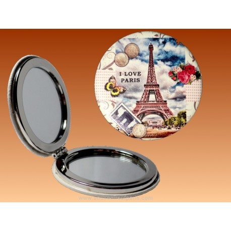 Mirror I Love Paris - Round