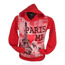 Sweatshirt Paris Love Me - Silk-screened for children