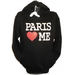 "Women's molded Sweatshirt ""Paris Love Me"""