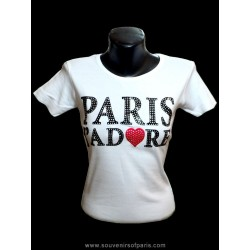 "T-Shirt Strass ""Paris J'Adore"""