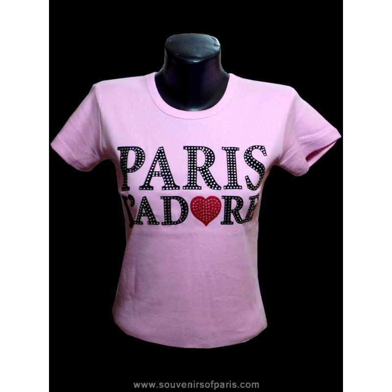 T Shirt Strass Quot Paris J Adore Quot