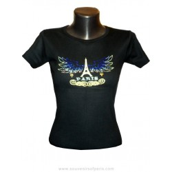 "T-shirt Strass ""Paris Eagle wings"""