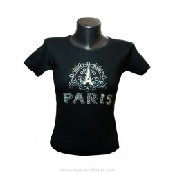 "T-shirt Strass ""Paris frame"""