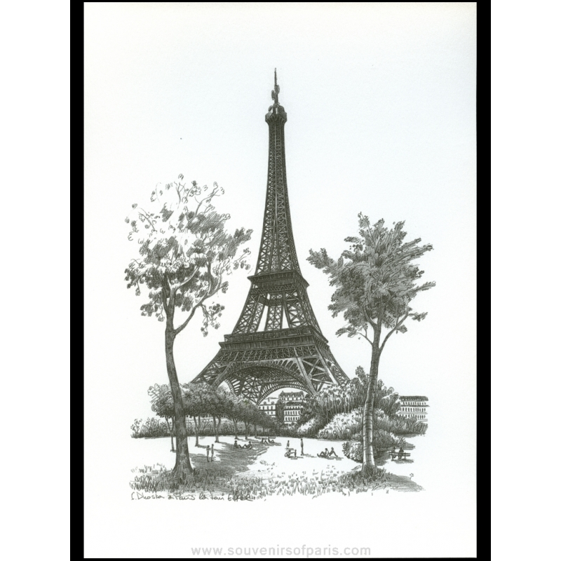 Paris Poster Black And White