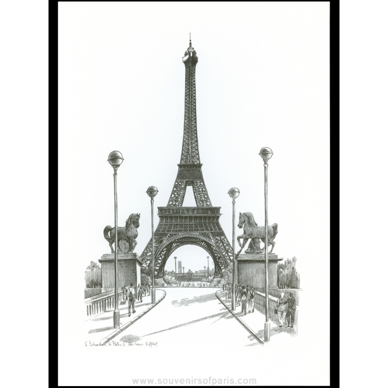 Paris poster black and white