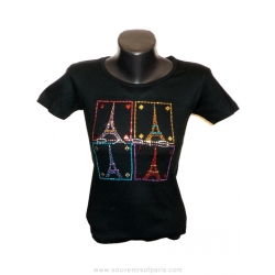 "T-shirt Strass ""Playing Paris"""