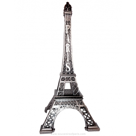"Old Silver Eiffel Tower - Size 7 - 15"" (38 cm)"