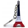 Key ring Eiffel Tower Blue/White/Red