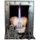Photo frame Eiffel Tower / Sacred Heart Metal