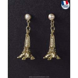 Golden Eiffel Tower Earrings