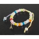 Paris Bracelet white pearls and multicolor cord
