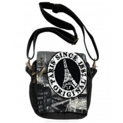 Paris Stamp Shoulder strap bag