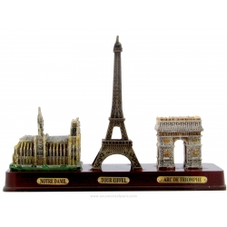 3 monuments on Wooden base