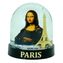 Snow globe Eiffel Tower Mona Lisa (big) - Made in France