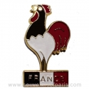 Rooster Blue/White/Red Pin