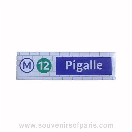 Pigalle Metro Station Magnet