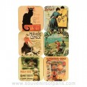 French Vintage Posters Coasters
