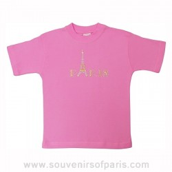 Pink Beaded Paris T-Shirt