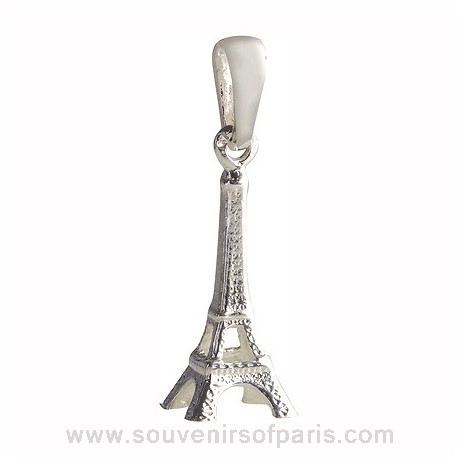 Sterling Silver Eiffel Tower Pendant - No chain