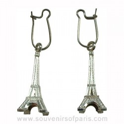 Eiffel Tower Souvenir Silver Earrings